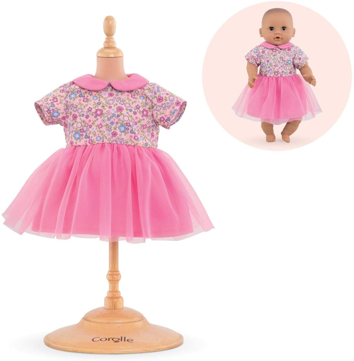 "Pink Sweet Dreams Dress for 12"" Dolls by Corolle"