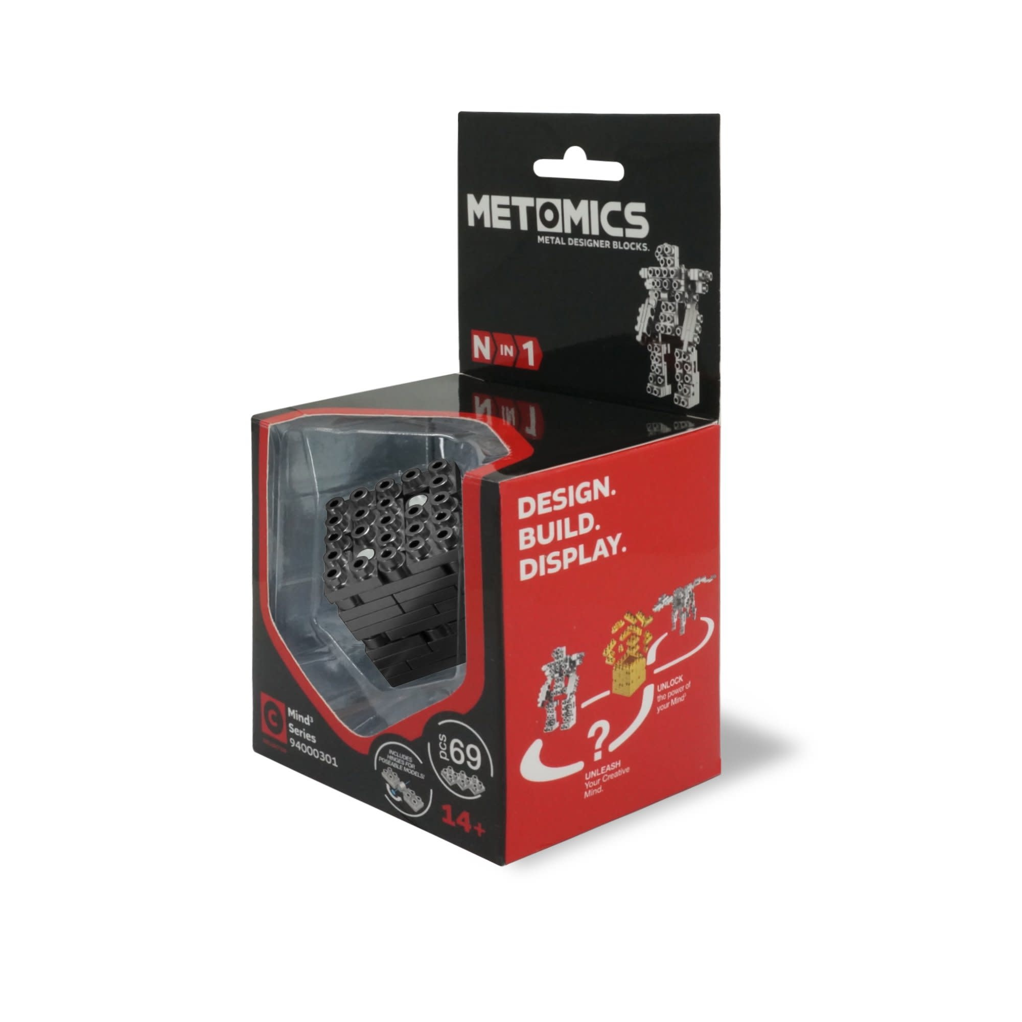 Mind3 Cube Set Charcoal by Metomics