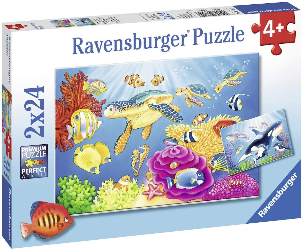 Vibrance Under the Sea 2 x 24 pc Puzzles by Ravensburger