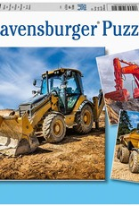 Diggers at Work 3x49-pc Puzzle by Ravensburger