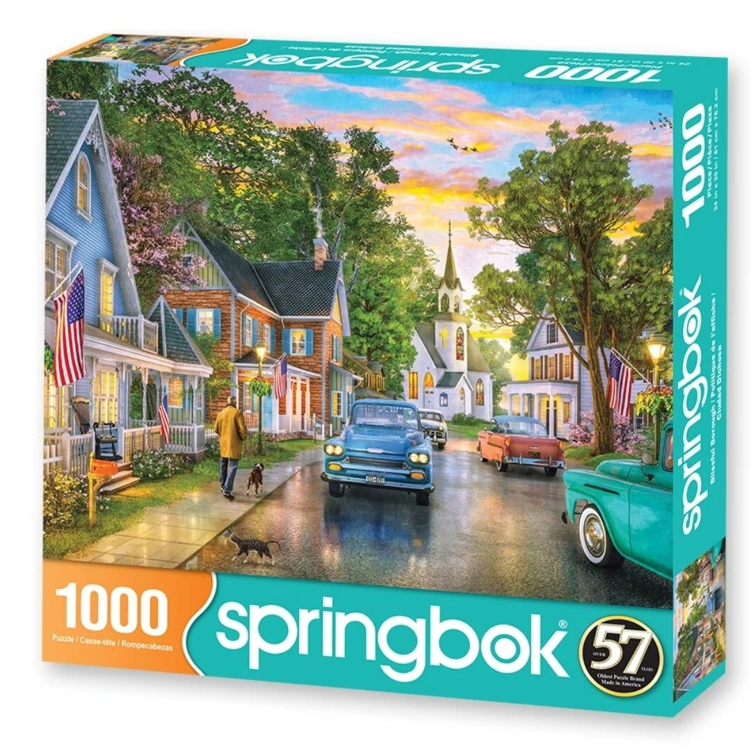 Blissful Borough 1000-pc Puzzle by Springbok