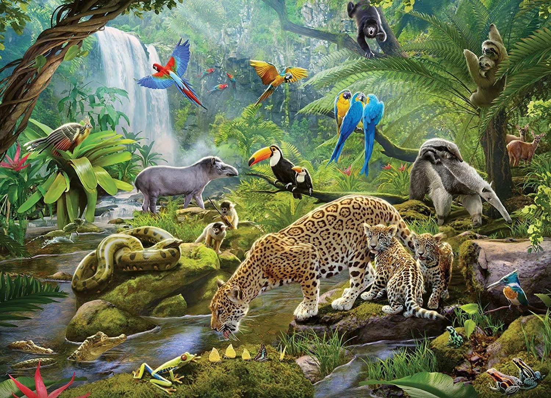 Rainforest Animals  60-pc Puzzle by Ravensburger