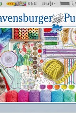 Needlework Station 500-pc Lrg Format Puzzle Ravensburger