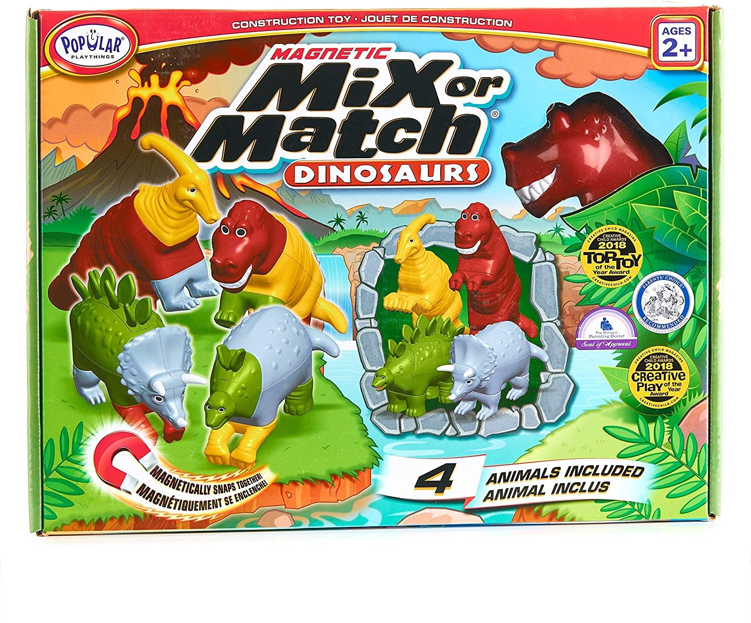 Magnetic Mix or Match Dinosaurs by Popular Playthings