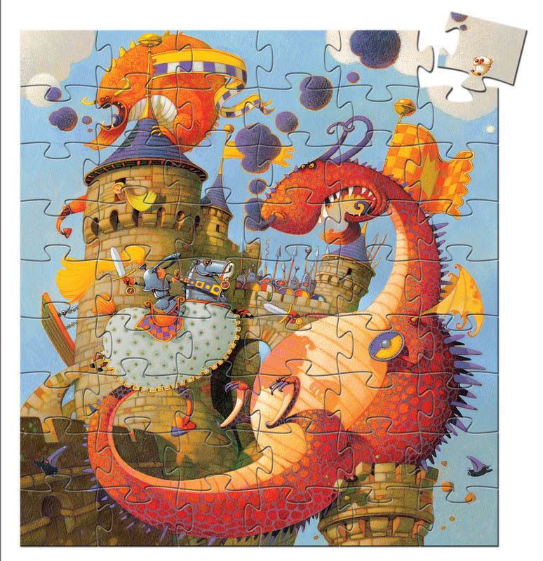 Valliant & The Dragon 54-pc Puzzle by Djeco