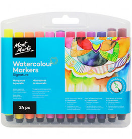 Watercolor Markers 24-pc Set by Mont Marte
