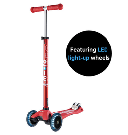 Maxi Deluxe  Scooter Red w/ LED Wheels by Micro Kickboard