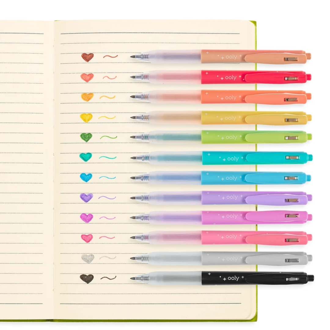 Oh My Glitter! 12-pk Retractable Gel Pens by Ooly