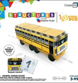 Create On CreateOn 123 School Bus by Magna-Tiles Structures