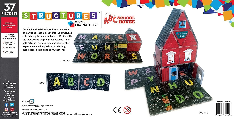 Create On CreateOn ABC Schoolhouse Magna-Tiles Structures