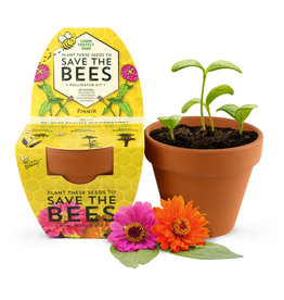 Save The Bees Zinnia Kit by Buzzy