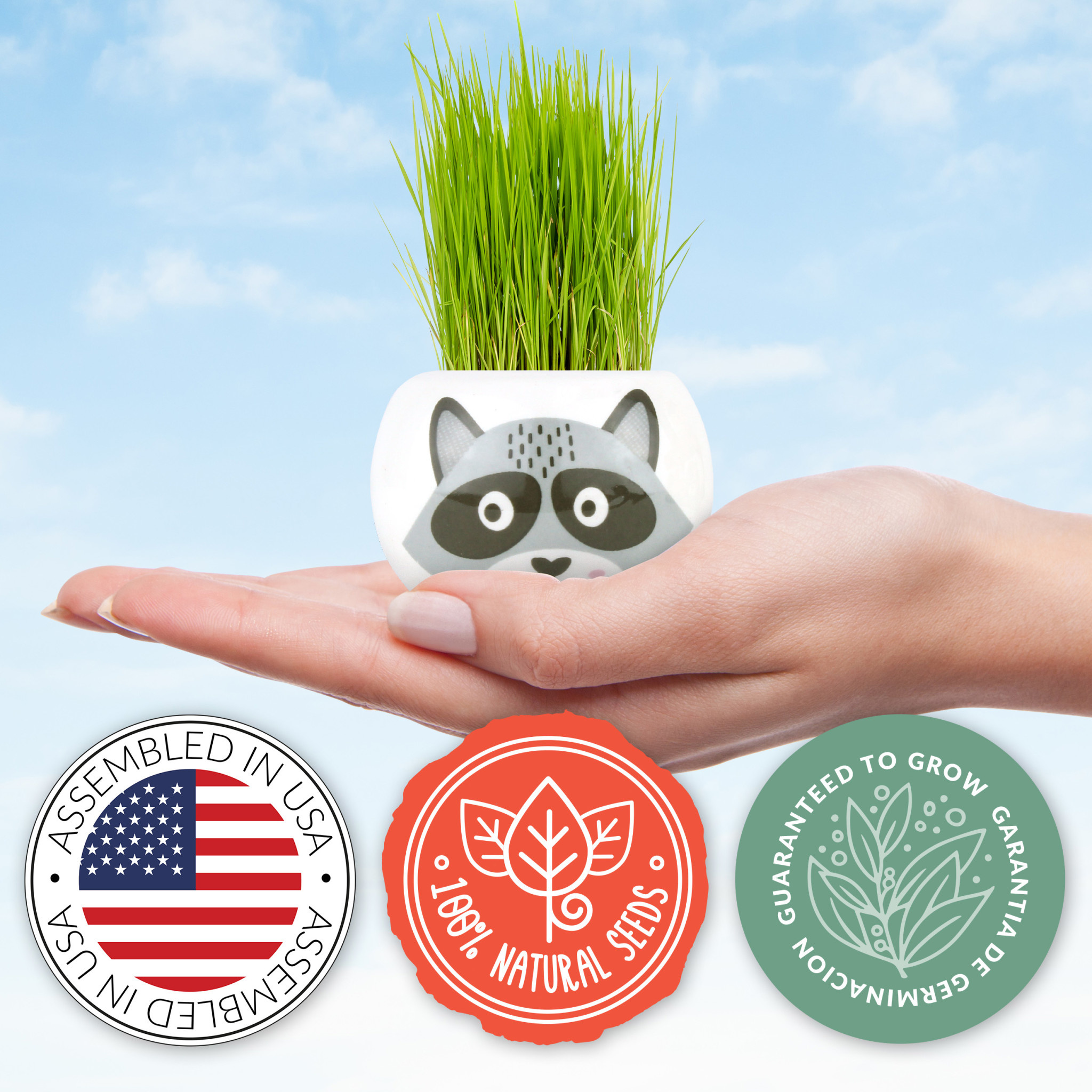 Wild Adventure Owl Ceramic Grow Kit by Buzzy