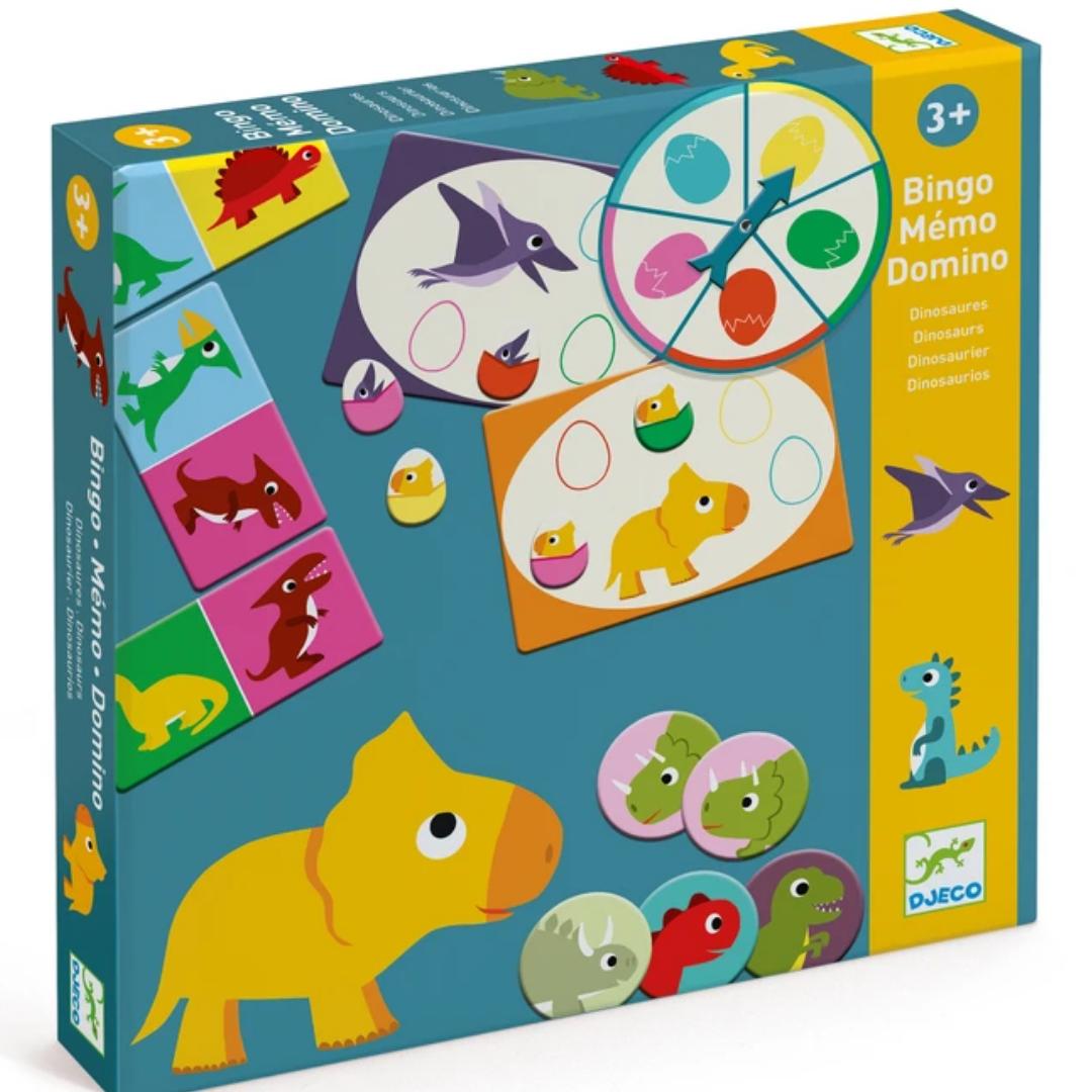 Bingo Memo Domino Dinosaurs by Djeco
