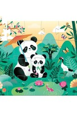 Leo the Panda 24-pc Silhouette Puzzle by Djeco