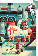 Bob the Robot 36-pc Silhouette Puzzle by Djeco