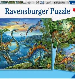 Dinosaur Fascination 3 x 49 pc Puzzles