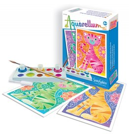 Aquarellum Mini Cats Painting Set by Sentosphere