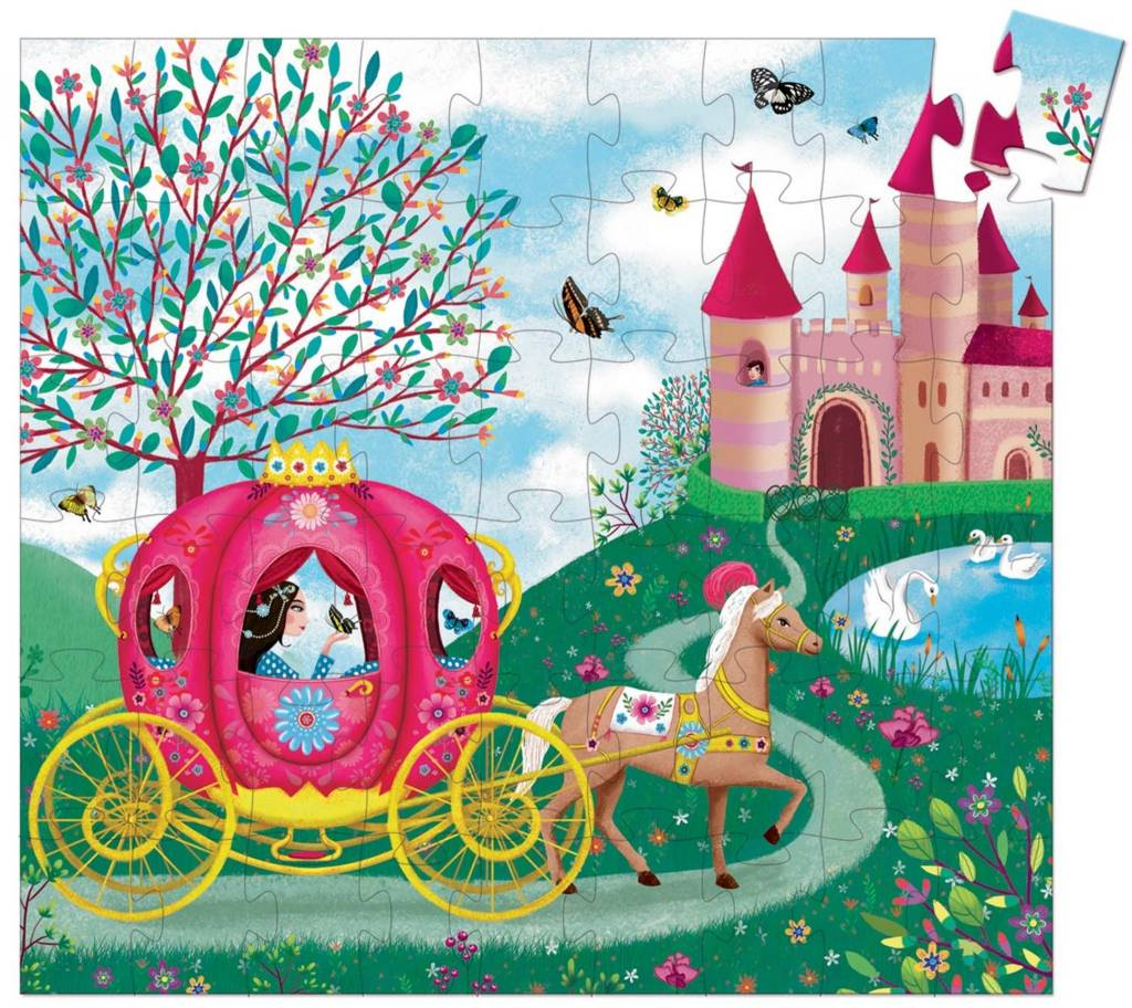 Elise's Carriage Silhouette Puzzle 54-pc