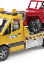 MB Sprinter with Cross Country Vehicle & Light/Sound Module by Bruder Toys