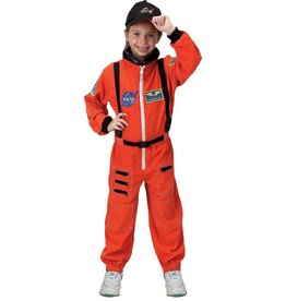 Aeromax Orange Astronaut Suit Costume (4-6)