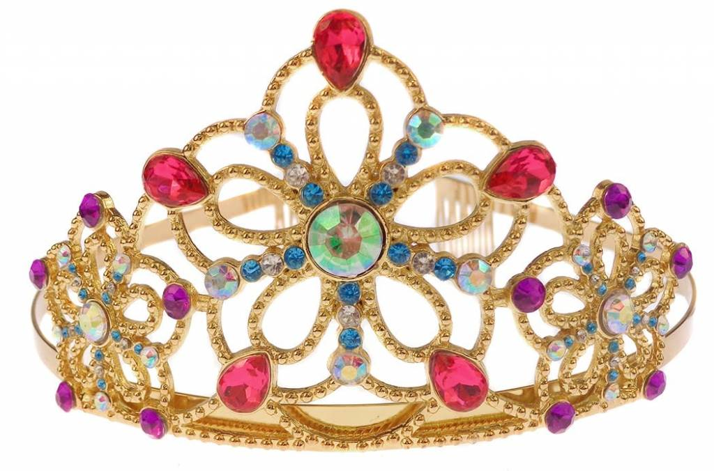 Gold Metal Bejewelled Tiara