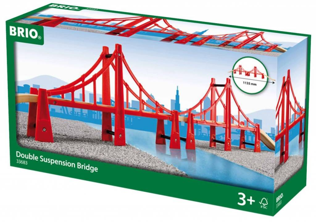 Brio Double Suspension Bridge by BRIO