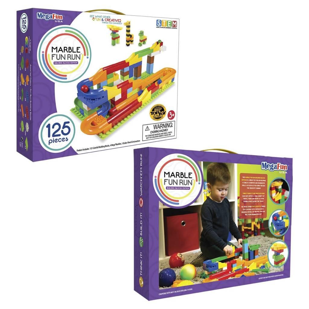 Mega Fun USA Marble Run by MegaFun, 75- or 125-piece set