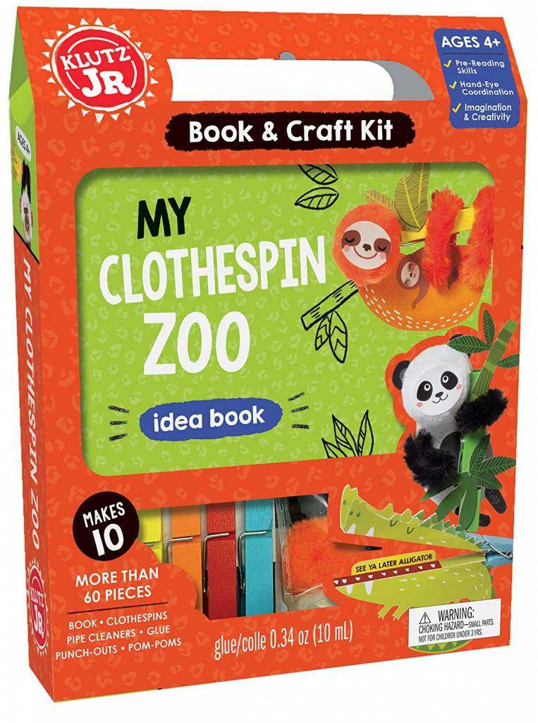 Clothespin Zoo Craft Kit by Klutz Jr