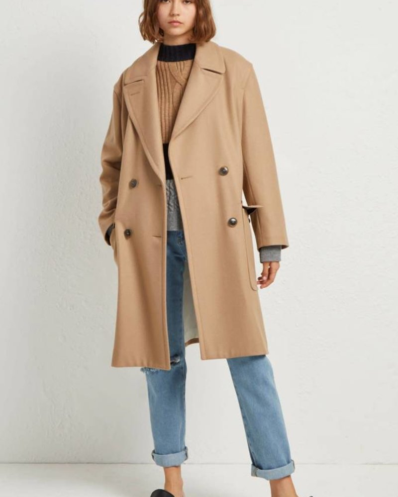 French Connection PLATFORM DOUBLE BREASTED COAT