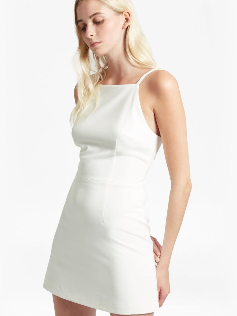 French Connection Summer Whisper Dress White The Art Of