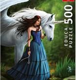 Educa Casse-tête 500 pièces série spécial Anne Stokes Bassin enchanté