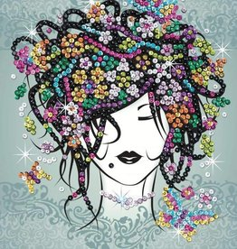 Sequin art craft teen Flower girl