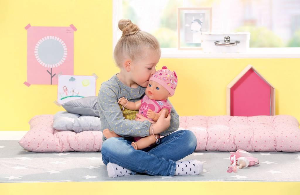 Zapf Baby Born Poupée yeux bleus 43 cm