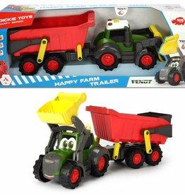 Dickie Happy Tracteur et remorque 65 cm
