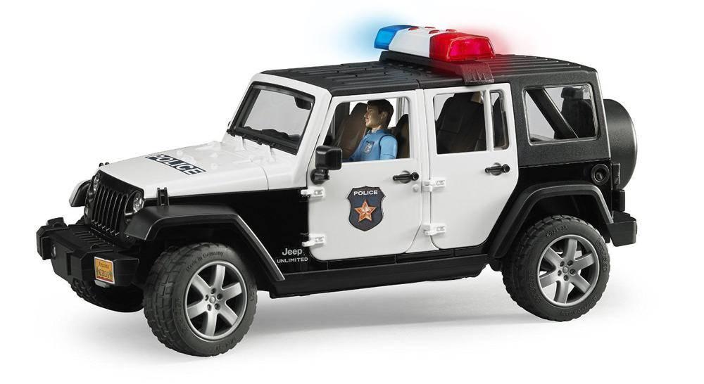 Bruder Jeep Wrangler Unlimited Rubicon véhicule de police et policier Bruder 1:16