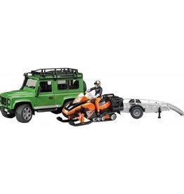 Bruder Land Rover avec remorque motoneige