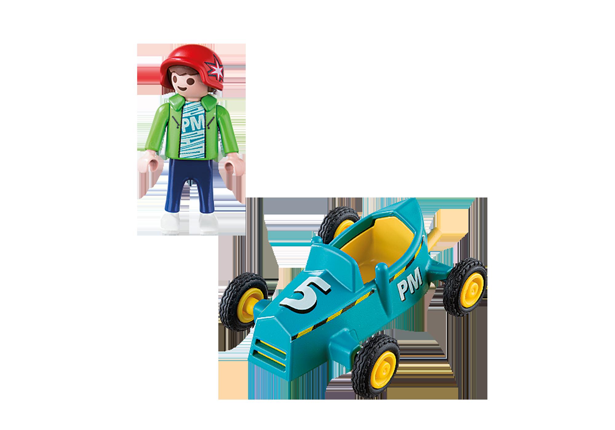 Playmobil Enfant avec kart