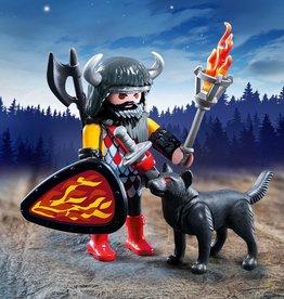Playmobil Guerrier avec loup