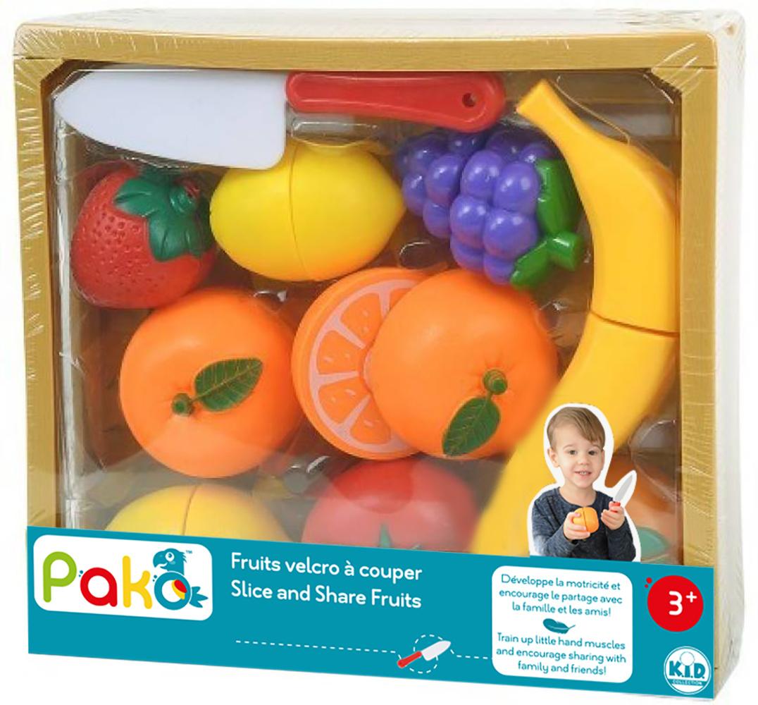 Pako Fruits velcro à couper 11 pièces