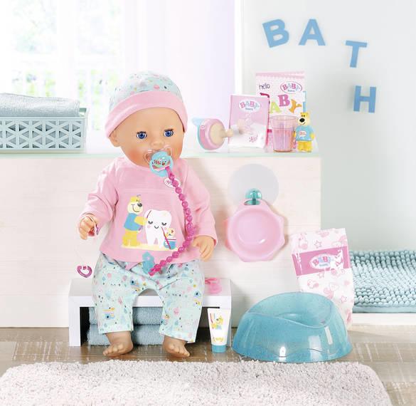 Baby born Poupée de bain Baby Born interactive 43 cm