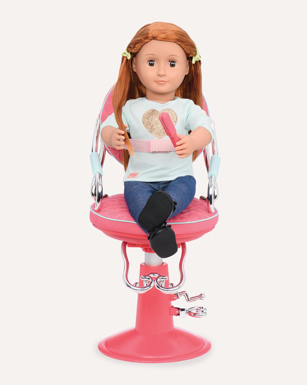 Our Generation Chaise de coiffeur Sitting Pretty pour poupée de 46 cm - Coeurs Roses