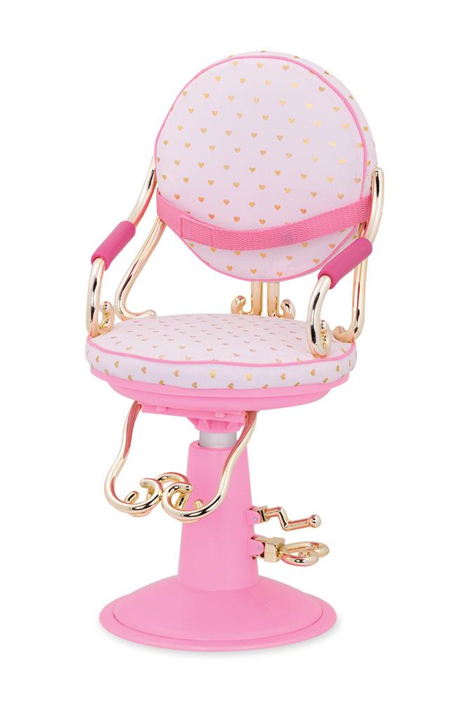 Our Generation Chaise de coiffeur Sitting Pretty pour poupée de 46 cm - Rose