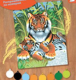 Peinture à numéros junior - Tigres