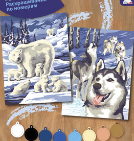 Peinture à numéros junior - Ensemble de 2 - Animaux nordiques