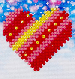 Diamond Dotz Diamond Dotz - Ensemble de départ Patchwork Heart