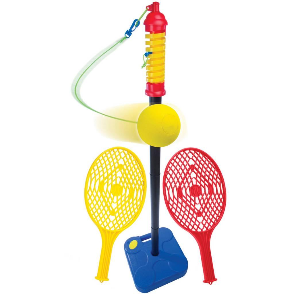 Balle sur poteau avec raquettes
