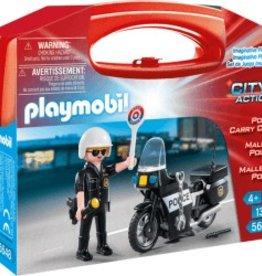 Playmobil Mallette portative motard de police