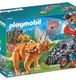 Playmobil Bandit avec tricératops
