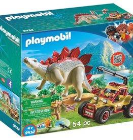 Playmobil Explorateur avec véhicule et stégosaure