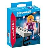 Playmobil Figurine de chanteuse avec piano